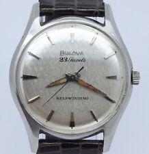 VINTAGE Bulova 23 Jewels 33mm Steel Automatic Mens Watch 10BZAC = GREAT DIAL =