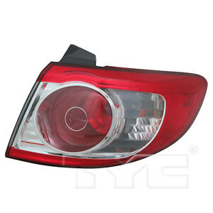 Outer Quarter Tail Light Rear Lamp Right Passenger for 10-12 Hyundai Santa Fe