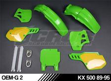 Plastik Kawasaki KX 500 1989 - 1995 MX Motocross BESONDERE!!!!! SCRUB UFO