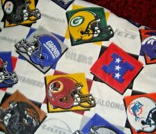 "Vintage NFL Football New Teams Helmets Logos Twin Blanket 70"" x 88"""