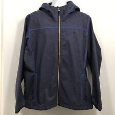 Adidas Outdoor Jacket Men's Size XL Blue Hooded Fleece Zip Down Hoodie Luminaire