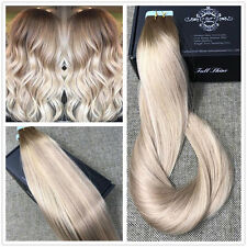 Balayage hair extensions ebay ash blonde highlighted tape hair extensions human hair balayage ship fromusa hot pmusecretfo Image collections