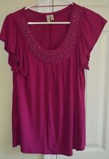 Madison Womens Top. Size Small. Burgundy-