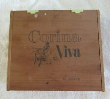 CORINA- VIVA*Empty- a Vintage 50 CIGAR Wooden BOX*Tropicals 3/50c*Bull Fighter.