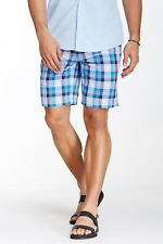 Peter Millar Yarn Dyed Plaid Short, Zip fly, 100% cotton, Size 34, NWT