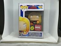 Funko Pop Captain Marvel 446 Collector Corps. Exclusive Glow In The Dark