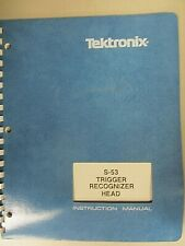 Tektronix S-53 Trigger Recognizer Head Instruction Manual 070-1147-00 Rev May 84
