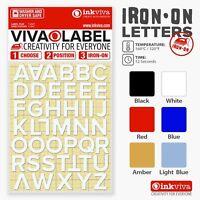 Inkviva 3D Iron On Letters Heat Transfer Alphabet Label Name Appliqué Half Inch