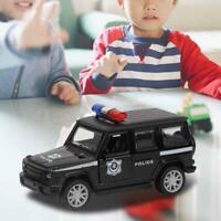 1/32 Alloy Police Pull Back Car Model Light Sound Diecast Vehicle Kids Boys Toys