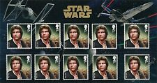 Star Wars - Han Solo - MINI FOLDER con 10 francobolli Gran Bretagna 2015 GB
