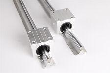 2pcsSBR16-1000mm Fully Supported Linear Rail Shaft Rod+4pcs SBR16UU BlockBearing