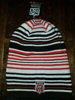 adidas MLS DC United Knit Striped Supporters Beanie Cap Men's Hat NEW RARE $30