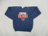 VINTAGE Chicago Bears Sweater Adult Extra Large Blue Orange Football Men 90s B2*