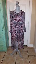 FIRE, Los Angeles, long sleeve,short in front and long in back sheer dress, Med