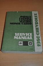 Werkstatthandbuch GM Chevrolet 1980 Service Manual Impala Caprice Camaro Malibu