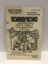 Vintage 1983 Donkey Kong Jr. Coleco Vision Instruction Manual Super Cool Display