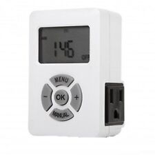 Timer 7 Day Weekly Programmable Digital Timer Outlet Switch 3 Prong