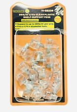 20 Pcs/pk Clear Transparent Plastic Shelf Support Pin Peg Cabinet Book Shelves