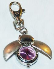 Ladybug Lady Bug Purple Clip On Watch Quartz Jewelry Key Ring