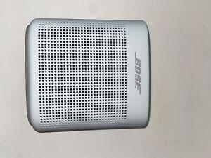 Bose soundlink color bluetooth speaker ii: grey, lightly used, good condition.