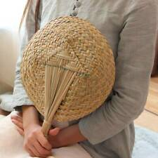 Chinese style handmade fan Natural hand weaving palm leaf fan Blades portable