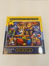 """Dowdle Kittens Knittin' Mittens 300 Piece Puzzle 16"""" x 20"""" - Made In USA"""