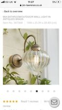 Jim Lawrence 'mia' Outdoor Light ( Can Be Used In A Bathroom)