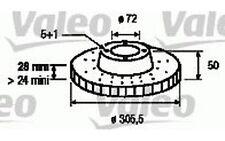 VALEO Disco de freno (x2) Antes 305mm ventilado RENAULT TRAFIC OPEL ASTRA 186712