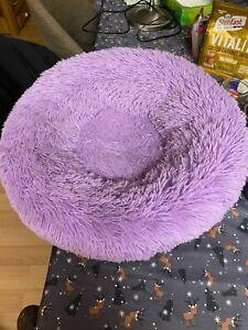 Donut Plush Pet Dog Cat Bed Fluffy Soft Warm Calming Sleeping Kennel Nest Sleep