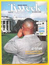 C-SPAN Chicago Tribune TV Week guide Oct 31 1993 Time Trax Babylon 5 Ads