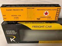 ✅K-LINE BY LIONEL PENNSYLVANIA UNION LINE WOOD SIDE REEFER CAR! PRR O SCALE
