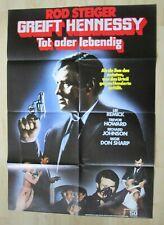 Filmplakat - Greift Hennessy Tot oder lebendig ( Rod Steiger , Lee Remick )