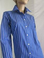 Ralph Lauren Jean Company Royal Blue Stripe Blouse Size Large  NWT