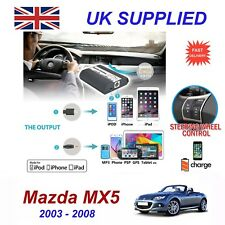 For Mazda MX5 iPhone 5 6 7 8 SE 10 & mp3 Aux Audio CD Changer Digital Module