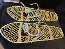 "Vintage Pair 2  CANADIAN LACROSSE MFG Snowshoes 10""X 30"" Metal Frame Patent pend"