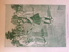 m17a1 ephemera 1920s book plate girl playing cricket