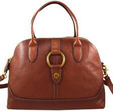 $398 Frye Leather Ring Dome Satchel Shoulder Bag in Cognac Brown NWT