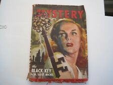 Pulp- Mammoth Mystery  October 1946- THE BLACK KEY. John D. MacDonald