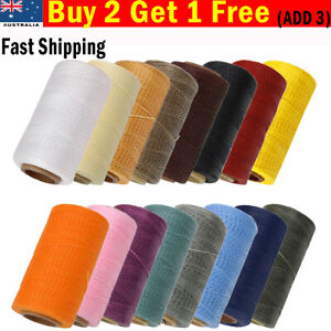 260 Meter 1mm Waxed Wax Thread Cord Sewing Craft DIY Leather Hand Stitching AU