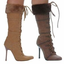 Synthetic Stiletto Mid-Calf Boots for Women