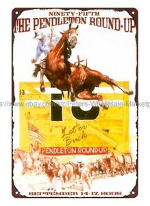 pendleton roundup rodeo metal tin sign modern decor