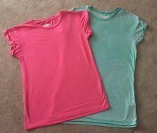 2 X Atmosphere Lightweight Short Sleeve T Shirt Tops Pink & Green Size 6