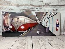 VW Camper van Camden Town London Under Ground Tube Canvas Picture Wall Art NEW