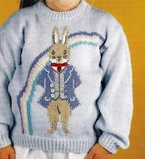 "VINTAGE ~ Peter Rabbit Desire Sweater Knitting Pattern ~ Size 22-28"" (vt113)"