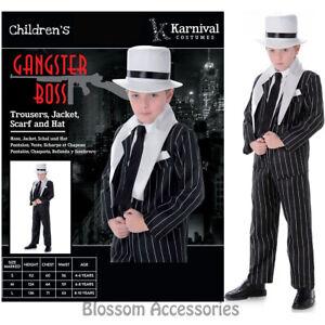 CK858 Boys Gangster Boss 1920's Great Gatsby Fancy Dress Party Halloween Costume