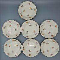 """Vintage CROOKSVILLE CHINA CO little bouquet flowers 7 fruit dessert bowls USA 5"""""""