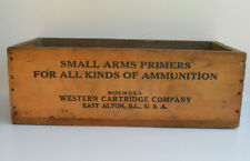 Vintage Western Cartridge Co. Small Arms Primers,#209 Primers, Wooden Crate