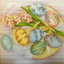 4 X PAPER NAPKINS   EASTER EGGS flowers  DECOUPAGE TABLE CRAFTING   W5
