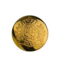 "Ralph Lauren Chaps Crown gold tone metal Replacement Sleeve pocket button .60"""