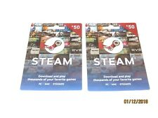 Steam Gift Cards = $100 (2 X $50) Physical cards purchased at Walgreens